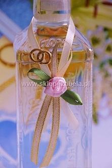 Zawieszki ślubne na wódkę weselną