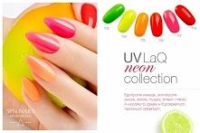 Nowe neonowe lakiery hybrydowe UV LaQ SPN Nails
