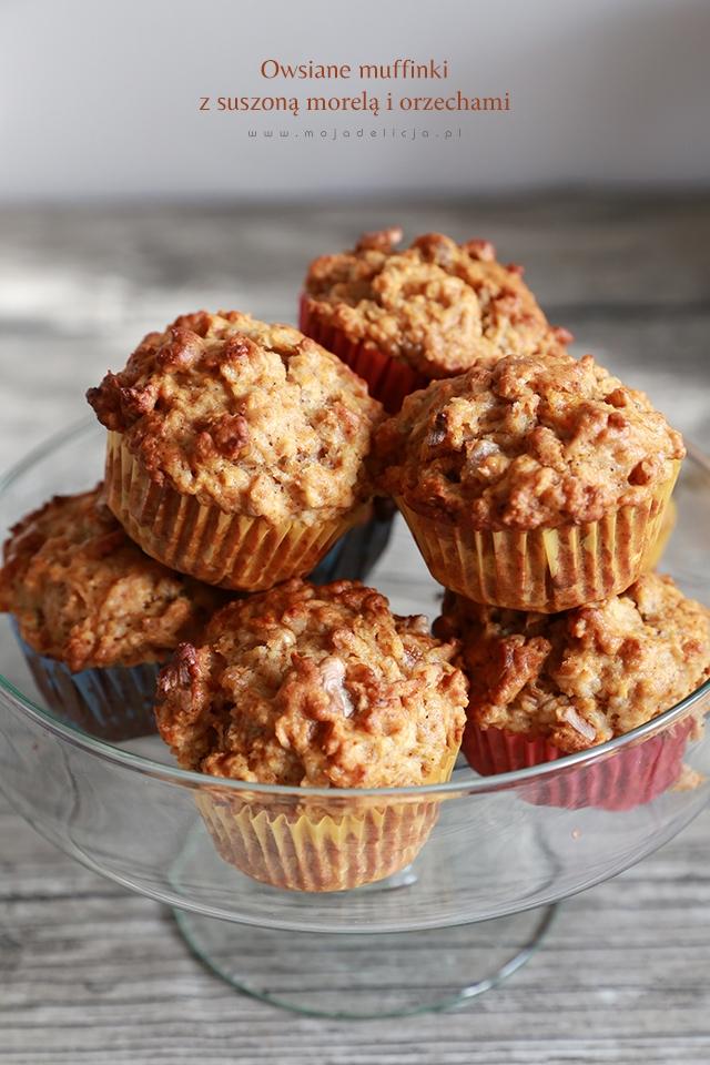 Owsiane muffiny z suszoną morelą. Przepisy po kliknięciu w zdjęcie