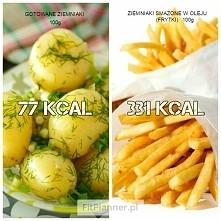 Gotowane ziemniaki VS Frytk...