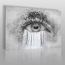 Wodospad łez - nowoczesny obraz na płótnie