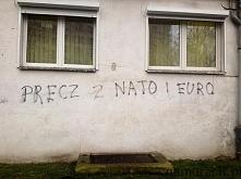 Precz z NATO i EURO - graff...