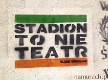 Stadion to nie teatr - szablon Wrocław