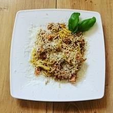 a po biegu obiad. bezglutenowe spaghetti z tunczykiem i pomidorami