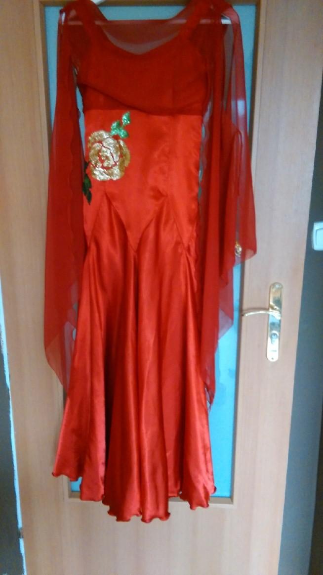 Sukienka do tańców standardowych tańca towarzyskiego. Cena sklepowa 300zl. Cena moja 100zl. Rozmiar XS.