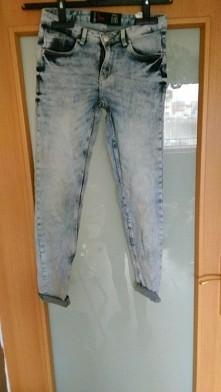 Spodnie jeansy rurki marmur...