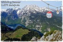 Wjazd na gore Jenner i krolewski widok na jezioro Königssee