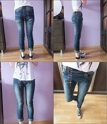 Witam, mam na sprzedaż spodnie boyfriend rozmiar XS/S. Sprzedaje, ponieważ są dla mnie za duże i szerokie - wiszą na mnie, co mi się nie podoba.  Spodnie kupiłam w osiedlowym bu...