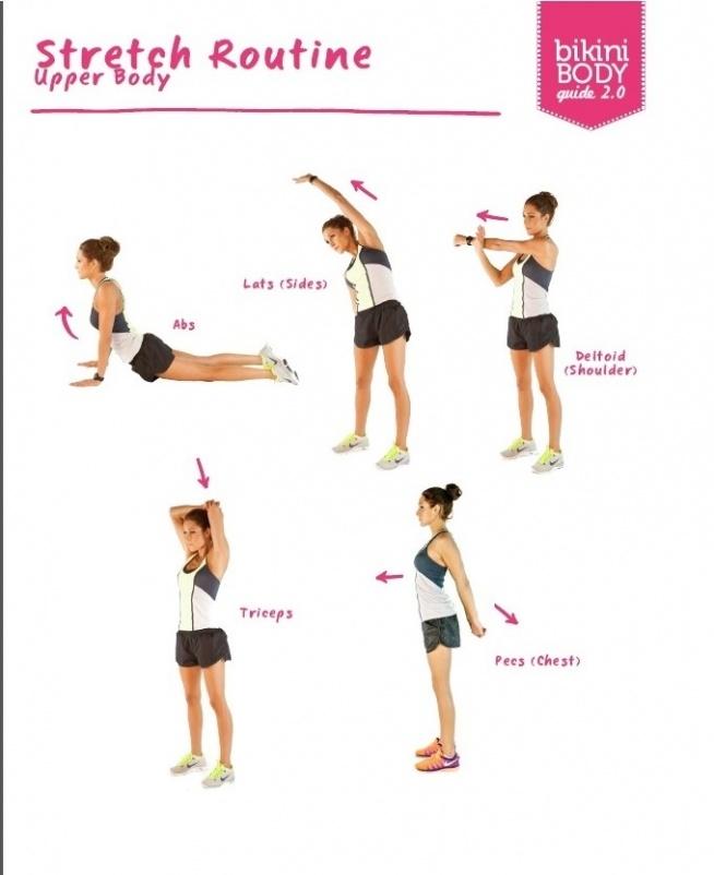 stretching upper body - górna część ciała