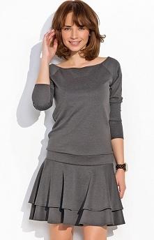 Numinou NU23 sukienka grafitowa Rewelacyjna sukienka, wykonana z miękkiej i przyjemnej tkaniny, góra dopasowana