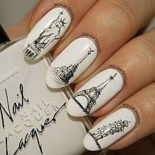 piękne naklejki na hybrydowych paznokciach *.*