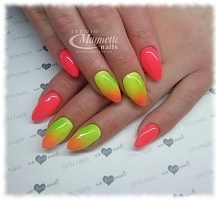 SPN Neon Papaya Neon Lime Wild Lemon   Nails by Monika, Studio Magnetic Nails...