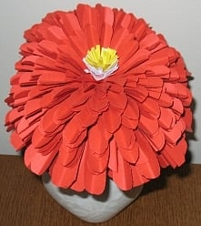 Kwiat z papieru, ręcznie robiony, duży :)