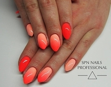 SPN Whops! i Neon Papaya   Nails by Monika, Studio Magnetic Nails Kielce, SPN...