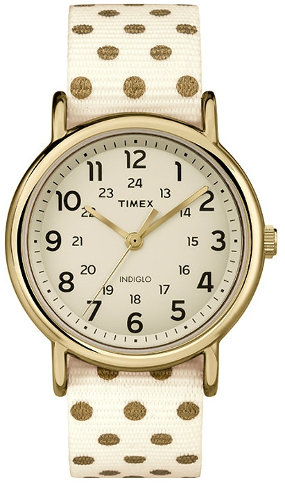 zegarek w kropeczki, zegarek komunijny dla dziewczynki, złote kropeczki