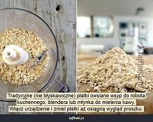 Mąka owsiana :D Używam ją teraz do wszystkiego (np.omlety,naleśniki) najlepsza :)