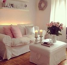 Salon w bieli, romantyczny,...