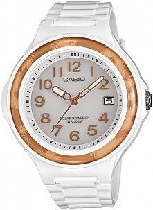 prezent komunijny - zegarek Casio dla dziewczynki w kolorze bieli, biały zegarek