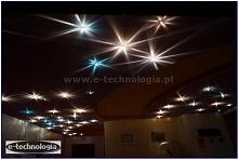 oświetlenie, oświetlenie salonu z sufitem gwieździstym niebem, oświetlenie gw...