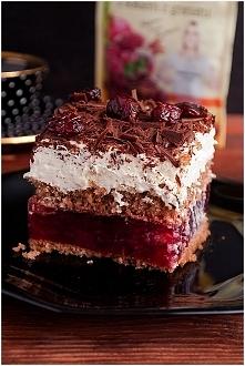 Ciasto kostka wiśniowa