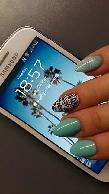 miętowe paznokcie #nails #p...