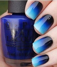 niebiesko-czarne