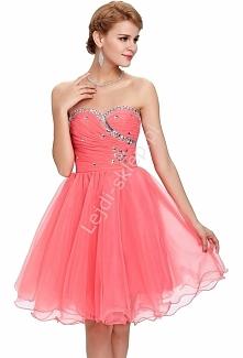 Tiulowa sukienka z kryształ...