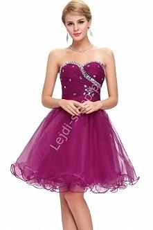 Organzowa sukienka z kryszt...