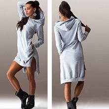 Dresowa sukienka z kapturem...