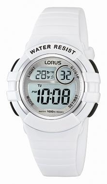 świetny zegarek na komunię, cyfrowy wyświetlacz, biały pasek i koperta, niewielkie rozmiary, idealny dla dziecka