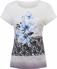 Letnia bluzka w kwiaty krót...