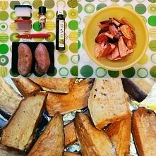 Prosty przepis na pyszne BATATY :)   Sól, pieprz, oliwa z oliwek (ja mam z ba...