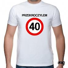 Prezent na 40 urodziny - koszulka Przekroczyłem 40