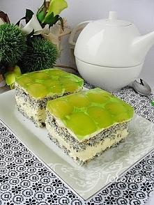 ciasto makowe z kremem migd...