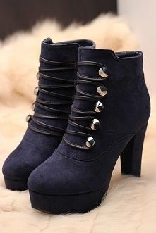 Piękne, wiązane botki :) Zakochałam się w nich. Co myślicie?