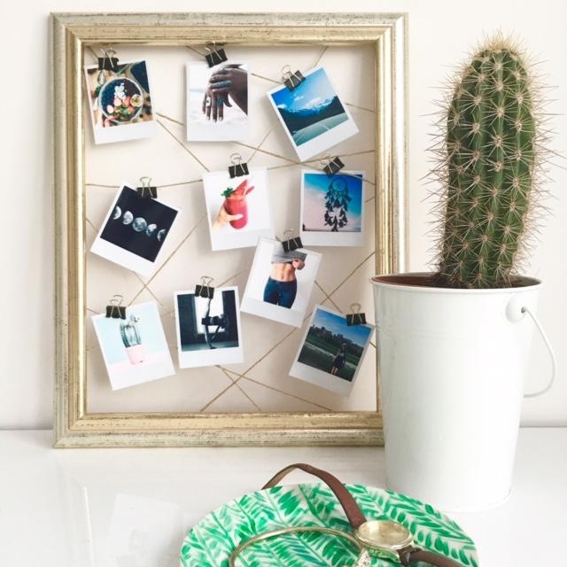 Jak wykonać ramkę z polaroidami nawet gdy nie masz Instaxa? Wejdź na canofglitter.blogspot.com żeby zobaczyć!