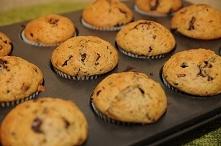 muffinki z czekoladą i żurawiną
