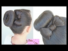 Donut Bun Bow!! | Updo Hairstyles | Cute Girly Hairstyles