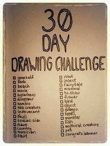 Wyzwanie na rysowanie ;)