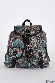 Plecak w orientalne wzory z Rohho <3
