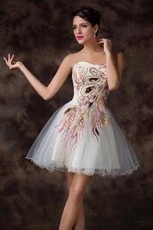 Sukienka z pawimi piórami |...