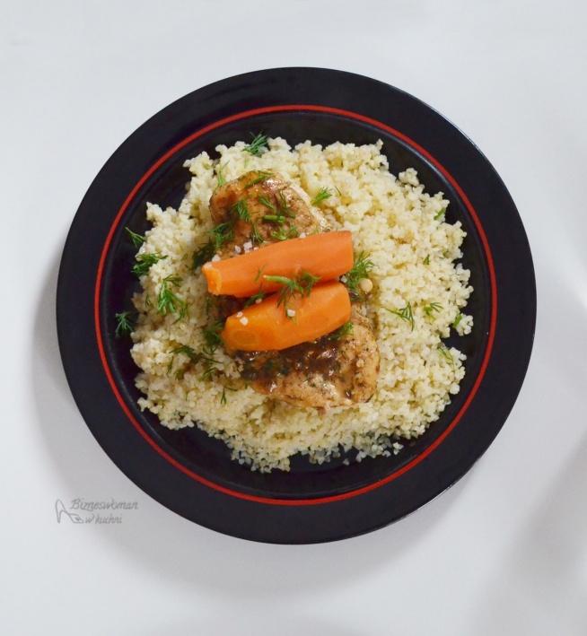 kasza bulgur z kurczakiem i marchewką