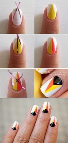 geometryczne wzory na paznokciach