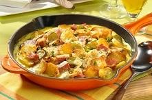 Składniki :      50 g startego żółtego sera     sól, biały pieprz     20 g masła     150 g szynki gotowanej     1-2 łyżki musztardy     olej     szczypiorek     20 g mąki     0,...