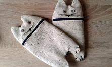 Piórnik w kształcie kota z zamkiem - diy Brzostula.pl