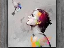 nowoczesne obraz od Krzanoo Art