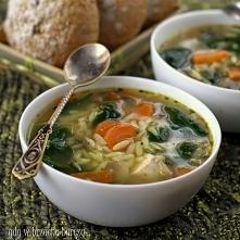 Lekka zupa z pieczarkami i ...