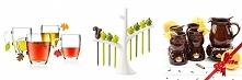 Pomysły na prezent ślubny: znaczniki na kubki lub kieliszki - listki, wykałaczki do koreczków, zestaw do grzanego wina