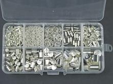Wszystko w 1 opakowaniu :) Pełny segregator elementów w kolorze srebrnym :)