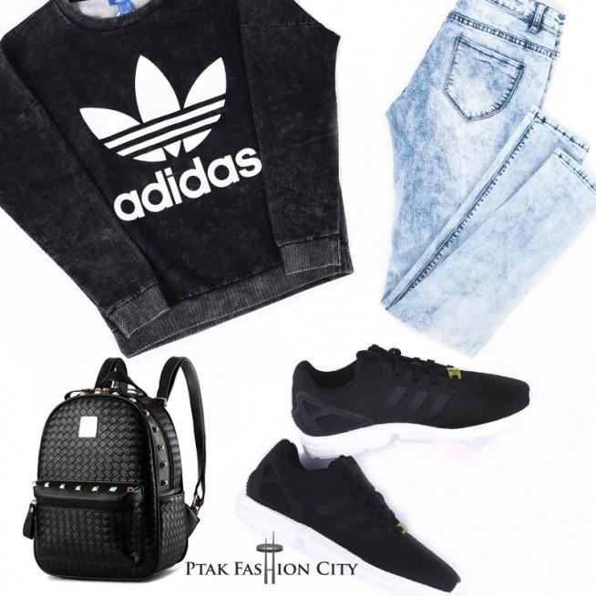 Luźno i klasycznie! Bluza i buty: AdidasPtakOutlet Spodnie